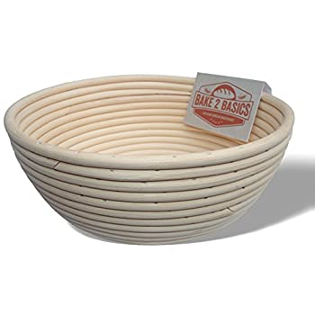 Banneton Bread Proofing Basket - (Brotform) - Bake Beautiful Artisan Bread In This 9 Inch Rattan Basket