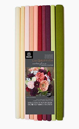 Lia Griffith Extra Fine Crepe Paper Folds Rolls, 10.7-Square Feet, Assorted Colors (LG11018) (Crepe Paper Large compare prices)