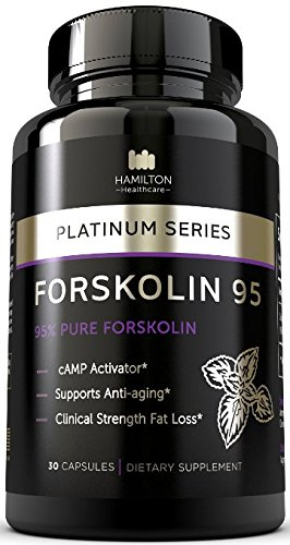 95% FORSKOLIN Amazing cAMP Activator - The Most Potent Supplement Available for Clinical Fat Loss and Anti Aging - 100% Natural and Unique Formula - Platinum Series By Hamilton Healthcare (Forskoline Extract compare prices)