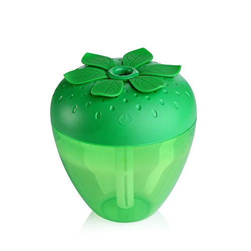 Han Shi Humidifier, 180ml Strawberry Cute Aroma Humidifiers, Essential Oil Diffuser, Atomizer for Car/Home (Green) (Kenmore 70 Pint Dehumidifier compare prices)