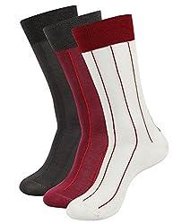 Balenzia Men's Mercerized Socks (Pack Of 3) (Jagmini40_Multi)