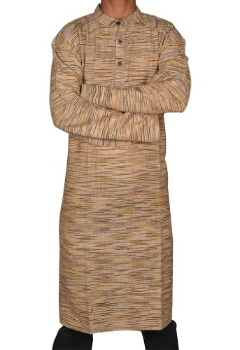 Designed Handmade Casual Indian Khadi Long Mens Kurta Fabric For Winter & Summers Size 4XL