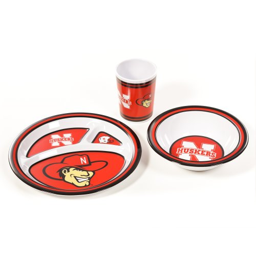 NCAA Nebraska Cornhuskers Kid's Dish Set (3-Piece)