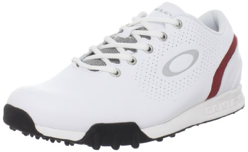 Oakley Men's Ripcord Golf Shoe,White/Red,10 M US