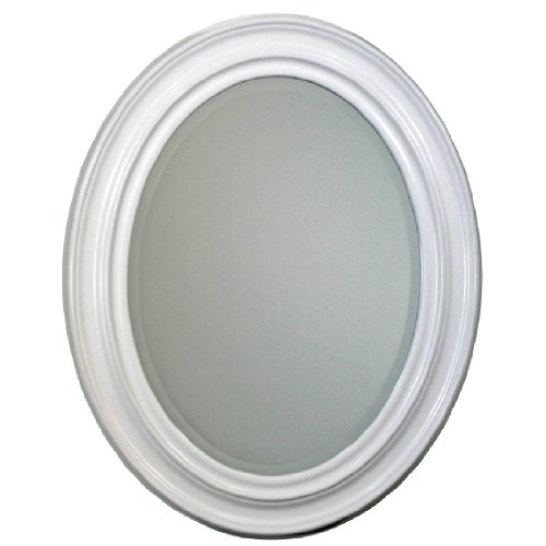 Head West Sonoma White Oval Mirror, 24 By 31-Inch front-900170