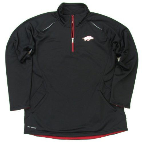 Genuine Stuff Arkansas Razorbacks 1/4 Zip Performance Jacket (Large) at Amazon.com