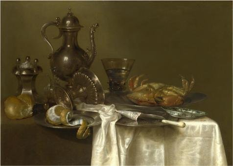 'Willem Claeszoon Heda,Pewter And Silver Vessels And A Crab,about 1633-1667' Oil Painting, 20x28 Inch / 51x71 Cm ,printed On Perfect Effect Canvas ,this Replica Art DecorativePrints On Canvas Is Perfectly Suitalbe For Nursery Gallery Art And Home Decoration And Gifts (Thai Micro Crab compare prices)