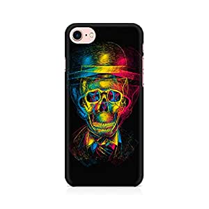MOTIVATE BOX Skull Anaglyph Premium Printed Mobile Back Case Cover For Apple iPhone 7