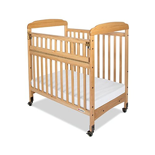 Foundations Serenity SafeReach Mirror End Compact Crib - Natural - 1