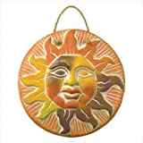 Terra Cotta Sun Face Wall Plaque Southwest Red Clay