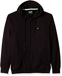 Wrangler Men's Cotton Sweatshirt (8907222667429_W152197198YZ_Small_Black)
