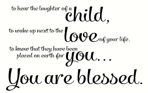 Wall Decor Plus More To Hear the Laughter of a Child.. Blessed Wall Sticker Quote Vinyl Sticker Decal 23
