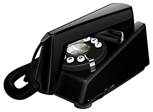 Geemarc Trimline Retro Style 2 Piece Corded Telephone - Black- UK Version