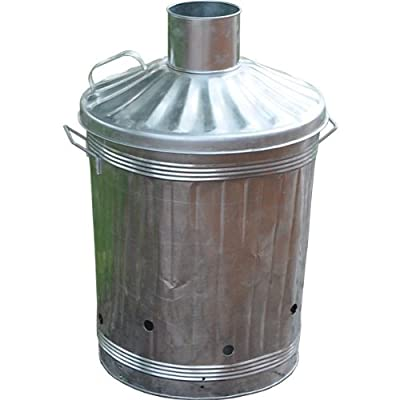 Ouse Valley Large Garden Fire Bin Galvanised Zinc Incinerator 3 Feet Carry Handles Burn from Ouse Valley