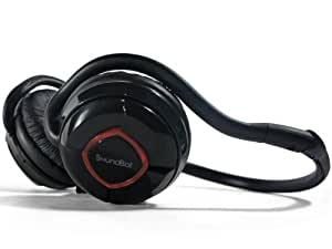 SoundBot SB240 Red Bluetooth Headset for Music Streaming & HandsFree Calling for 20 Hours of Talk Time 400 Hours of Standby Time w/ MicroUSB Charging Port & Cable Included