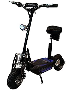 Black Super Turbo 1000watt Elite 36v Electric Scooter with Econo/Turbo Mode Button