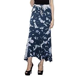 HansTann Women's Pencil Skirt (HTSKBU04_Blue_Medium)