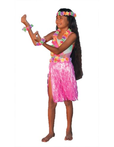 Kids-Costume Aloha Set Pink Child-Teen Halloween Costume - Most Teens