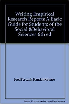 Writing Empirical Research Reports pdf   Literature Review     Amazon com Writing empirical research reports pyrczak  th edition