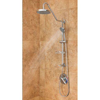 Learn More About PULSE Showerspas 1011-CH Kauai Retro-Fit Rain Shower System with Handshower and Adj...