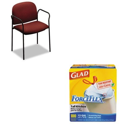 KITCOX70427HON4051AB62T - Value Kit - HON Multipurpose Stacking Arm Chairs (HON4051AB62T) and Glad ForceFlex Tall-Kitchen Drawstring Bags (COX70427) drawstring bags