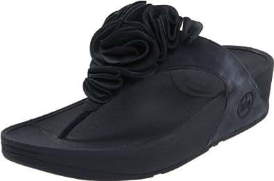 FitFlop Women's Frou Thong Sandal,Super Navy,7 M US
