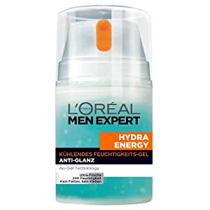 L'Oréal Men Expert Hydra Energy Kühlendes Feuchtigkeitsgel Anti-Glanz, 50 ml