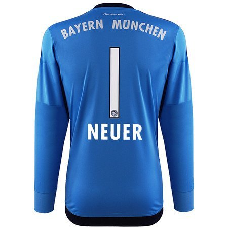 adidas fc bayern neuer torwart trikot 2016 blau 140. Black Bedroom Furniture Sets. Home Design Ideas