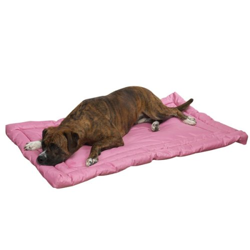 Slumber Pet Nylon Water Resistant Dog Bed, X-Large, Pink front-780970