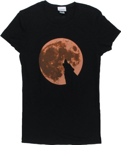 True Blood Wolf Howling at the Moon Men's T-Shirt (X-Large)