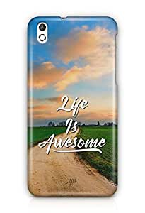 YuBingo Life is Awesome Designer Mobile Case Back Cover for HTC Desire 816