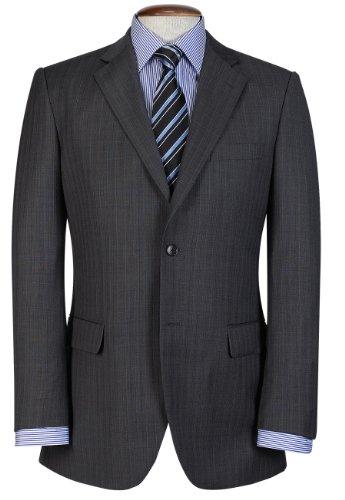 Brook Taverner Walton Suit Jacket in Grey Herringbone 44R