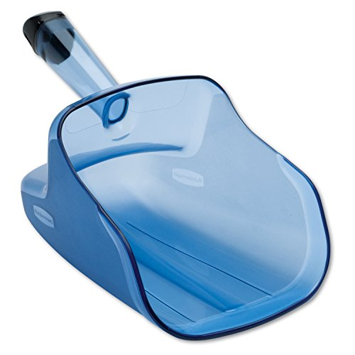 Rubbermaid Commercial ProServe 74-Ounce Scoop with Hand Guard, 12-Inch Length, 6.7-Inch Width, 7.7-Inch Height, Blue (FG9F5000TBLUE) (Ice Scooper compare prices)