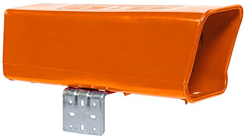 Plastic-Newspaper-Delivery-Tube-Box-Receptacle-Mounting-Bracket-Orange