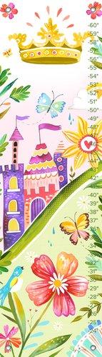 "Oopsy Daisy Growth Chart, Nature Princess, 12"" x 42"""