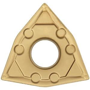 "Sandvik Coromant T-Max P Wiper Cermet Turning Insert, WNMG, Trigon, WF Chipbreaker, GC1525 Grade, TiCN Coating, WNMG 431-WF, 1/2"" iC, 0.0157"" Corner Radius (Pack of 10)"