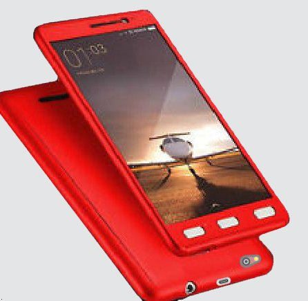 326bfb8c9b7 Buy CEDO 360 Degree Full Body Protection Front   Back Case Cover for Xiaomi  Redmi 3s Prime with Tempered Glass (iPaky Style) - Red on Amazon