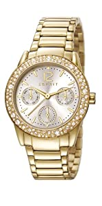 Esprit Damen-Armbanduhr XS Analog Quarz Edelstahl beschichtet ES107152003