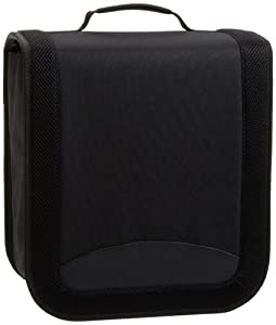 AmazonBasics CD / DVD Binder 400 Disc Capacity Nylon Black