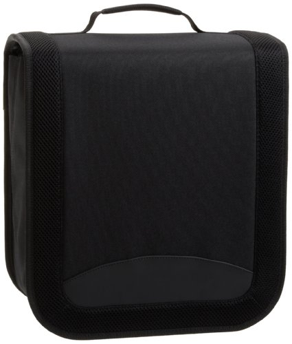 AmazonBasics - Porta 400 CD/DVD in nylon, colore: Nero
