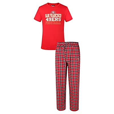 San Francisco 49ers NFL Medalist Men's T-shirt & Flannel Pajama Pants Sleep Set