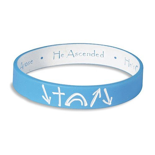 Blue and White reversible Witness Band Silicone Bracelet - 1