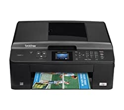 BROTHER FAX MACHINE PRINTER COPY SCAN COLOR INKJET WIRELESS ALL IN ONE