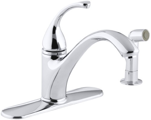 KOHLER K-10412-CP Forte Single Control Kitchen Sink Faucet, Polished Chrome