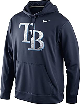 Nike Tampa Bay Rays Men's Mezzo Logo Performance Therma-Fit Pullover Hoodie