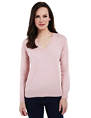 M&S Collection Pure Lambswool V-Neck Jumper
