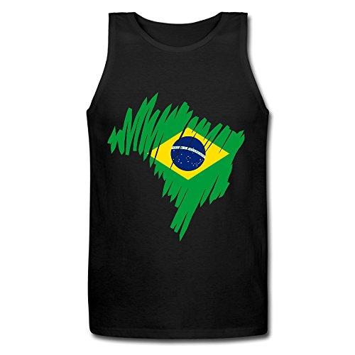 brasil-vest-top-maglietta-confortevole-black-x-large