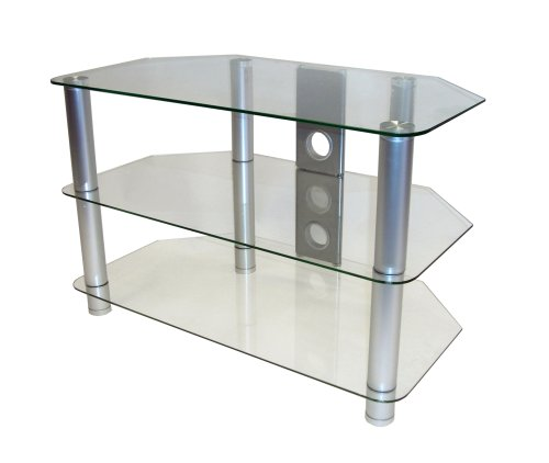 Icon Auto 3237 - Glass LCD  &  Plasma TV Stand -Up to 32