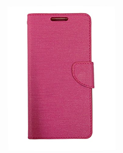 Celson Flip Cover Back Case For Micromax Yu Yuphoria Flip Cover - Pink