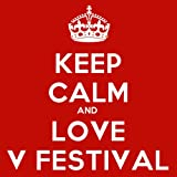 Keep Calm And Love V Festival Coaster - 9cm Square